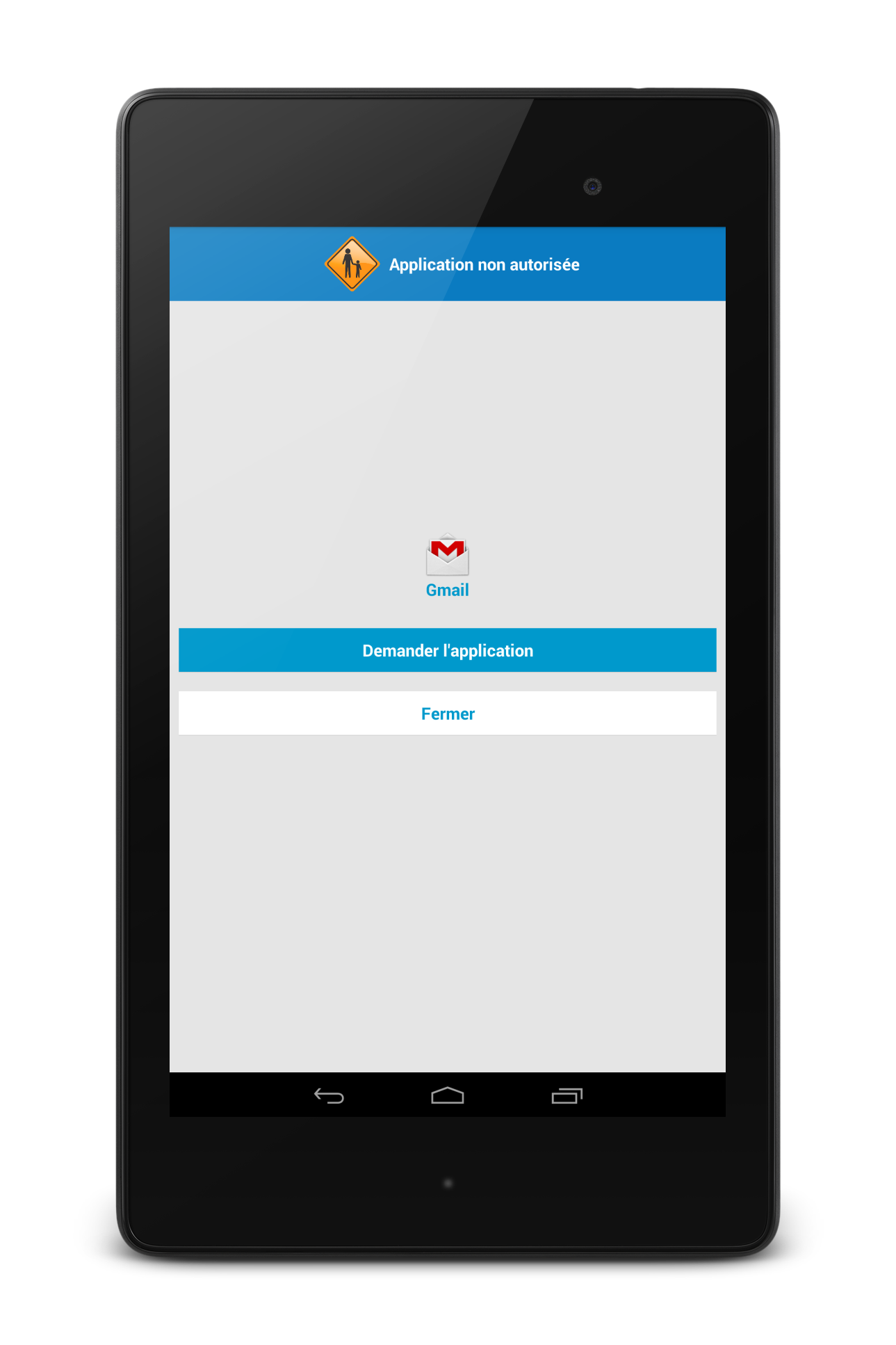application android tablette controle parental