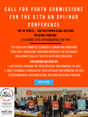 un 2018 youth conference application deadline
