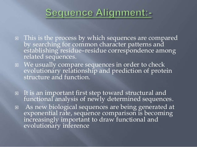 applications of pairwise sequence alignment