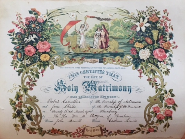 application for copy of ontario marriage certificate