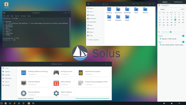 linux operating system windows 10 application
