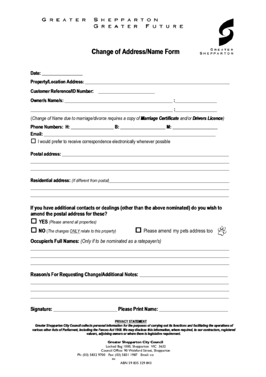 alberta legal change of name application form