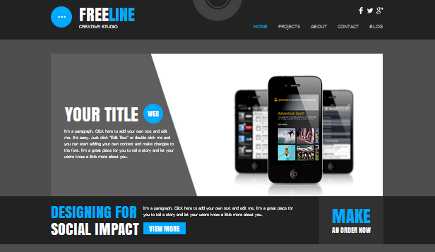 wix project for web application