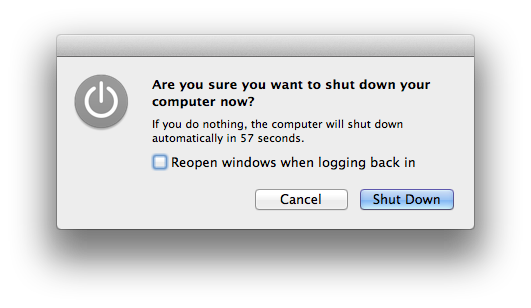 how to shut down applications on mac