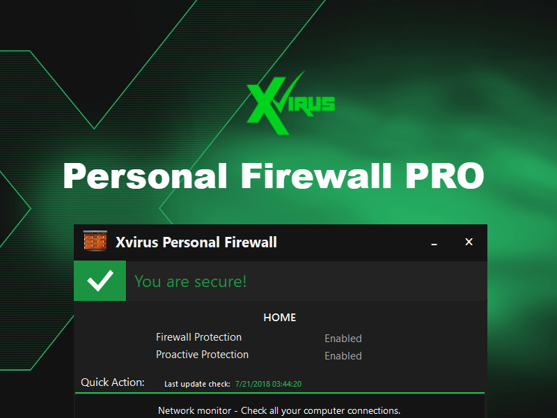 managed by vendor application mcafee personal firewall