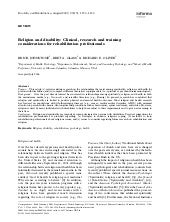 religion spirituality and medicine application to clinical practice