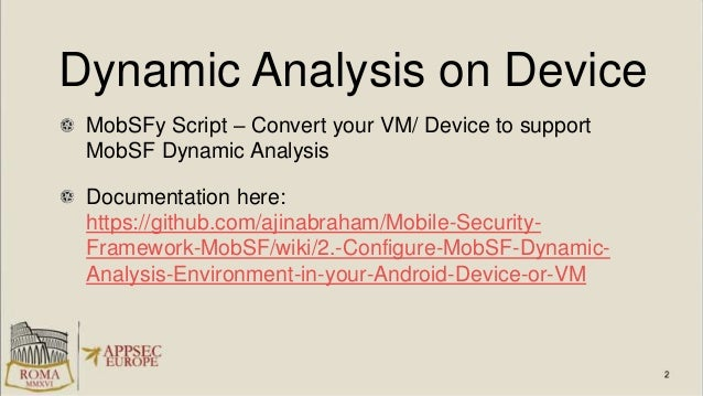automated mobile application security assessment with mobsf download