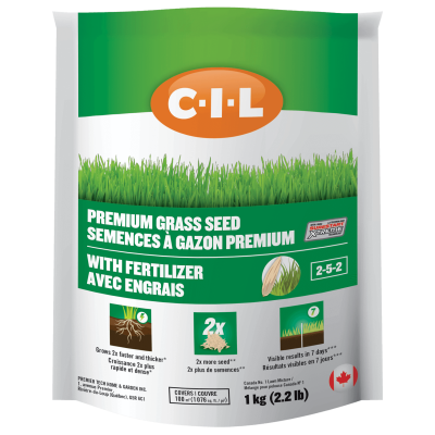 grass seed and fertilizer application