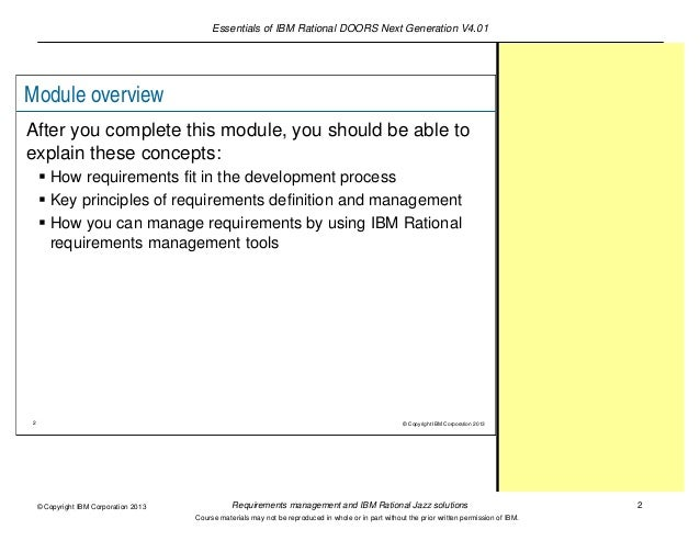 ibm application for requirements management