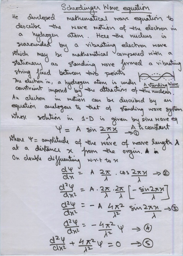 practical applications of schrodinger wave equation