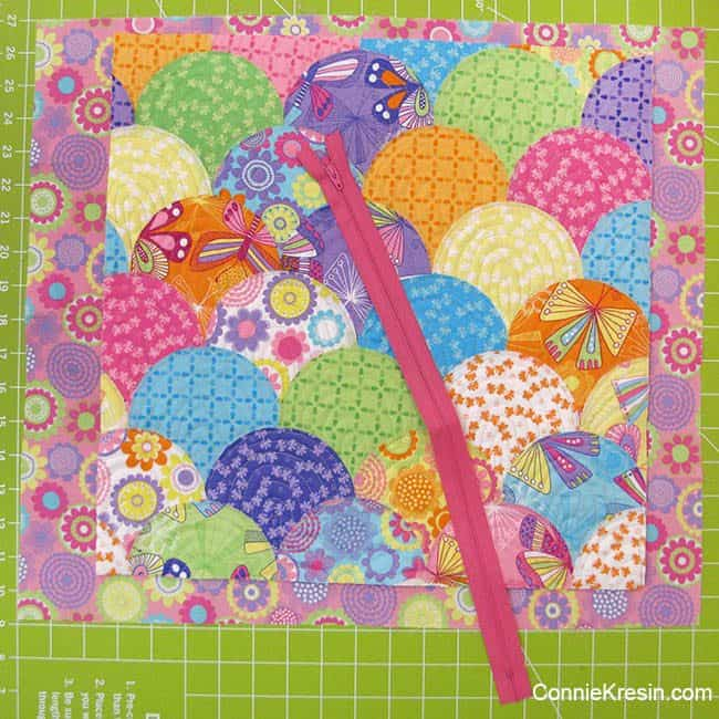 hownfar to sew from the edge on raw edge applique