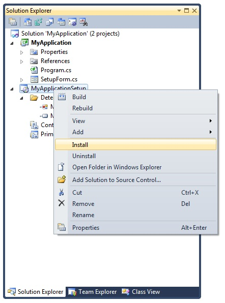 launching windows forms application c